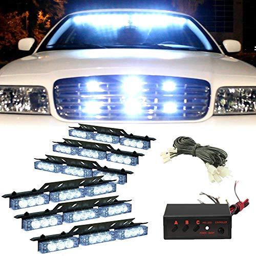 heinmo 6 x 9 LED DC 12 V 54 LED Gitter Flash Auto Licht Strobe Flash Warnung Truck Licht Blinkend Feuerwehr Flash-dc Strobe