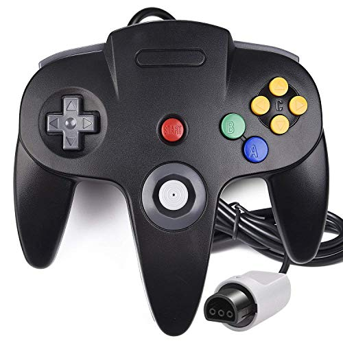 NOKKOO 3RD Party Made Classic Wired N64 64-Bit Gamepad Joystick Ultra 64 Video Game Pad Game Controller Gamepad Joystick Ultra 64 Video Game Konsole schwarz