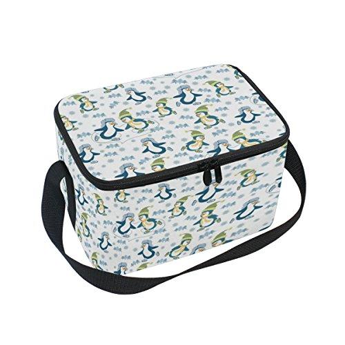 DOSHINE Cute Animal Sport Pinguin Isolierte Lunch Box Tasche, Kühler Ice Lunch Tasche Wiederverwendbar für Männer Frauen Erwachsene Kinder Jungen - Pinguin Lunch-box