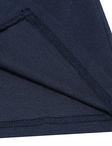 Damen Strickjacke Basic Jacke Strickmantel Cardigan Herbst Winter Offene Feinstrickjacke Classic Langarm Kragenlos Outwear in 7 Farben Blau