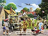 D Day Landings 6th June 1944. 4x4 Jeeps and land rovers. Bombers and american troops. Tank. Small Metal/Steel Wall Sign