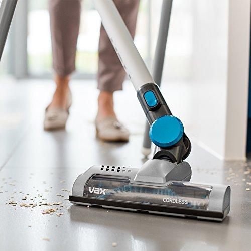 512MgqFB8fL. SS500  - Vax Cordless SlimVac Vacuum Cleaner, 0.6 Litre, 18 V, 130 W, Silver/Blue