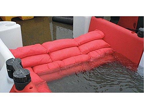 Hochwasser Barriere HydroSnake 12 x 2er Set Hochwasserschutz rot 145cm x 20cm