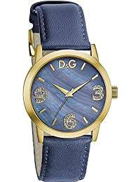 Dolce & Gabbana Pose Ladies Blue Dial Leather Strap Watch DW0690