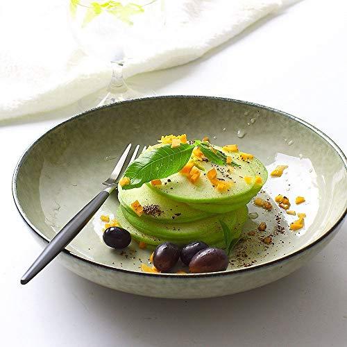 LIXUE Grande assiette creuse en céramique pour salade de fruits Steak Pasta Dish ou Céréales Nouilles soupe créative Micro-ondes Safe Mixing Bols de cuisson (Size : M)