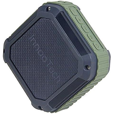 Innoo Tech Altavoz Bluetooth Portátil Inalámbrico Compatible con Tarjeta TF Función de Radio AUX con Cable USB Impermeable al aire libre y a Prueba de Polvo Ideal para Vajia Excursión Exterior y Ducha Baño