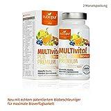 Die besten Natürliche Multivitamin für Männer - Multivitamin, Multimineral, Multi-Vitalstoffe, vegetarisch, vegan, 60 Kapseln, 2-Monatspackung Bewertungen