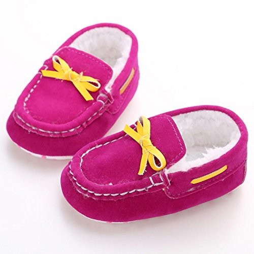 Saingace® Krabbelschuhe,0 ~ 18 Monate Neue nette Coral Fleece Anti-Rutsch-neugeborene Baby-Schuhe Freizeitschuhe Hot Pink