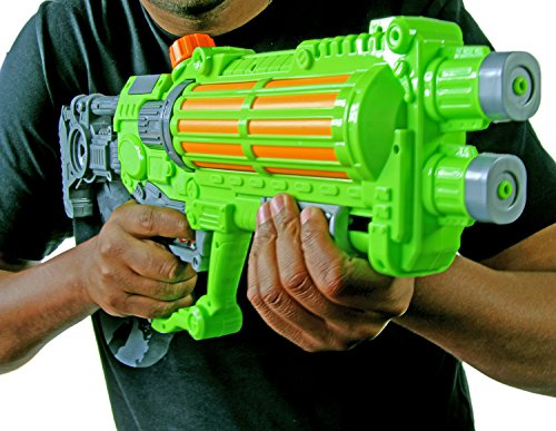 Wasser-Pistole Galaxy 57cm Kinder-Spielzeug Grün Grau Wasser-Spritze Sommer-Spielzeug Spielzeug-Pistole Wasser-Gewehr Aqua-Gun Pool-Kanone Planschbecken-Pistole Garten-Party Spielzeug-Waffe Swimming-Pool-Gun