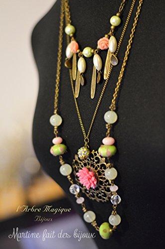 gran-collar-3-en-1-de-color-rosa-cristal-de-murano-verde-colgante-cabujon-de-color-rosa-suave-acabad