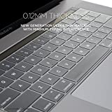 #8: OJOS Keyboard Silicon Skin for MacBook Pro with Touch Bar 15 Inch and 13 Inch (2016 2017 2018, Apple Model Number A1706, A1707, A1989, A1990) Clear, Transparent