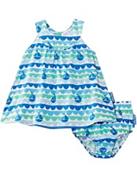 Toby Tiger Girl's Boat Baby Dress & Pants