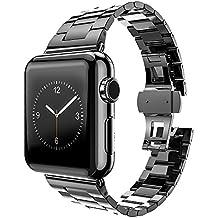 MPTECK® sostituzione Nero acciaio inox 42mm watch orologio cinturino braccialetto per Apple Watch APPLE WATCH II apple watch Series 1 Series 2 Serie 1 2