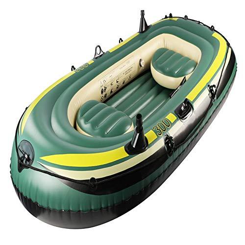 Wwwwjjjj barca gonfiabile, gommone per tre persone, tender gonfiabile con pompa a mano e due palette, ispessimento in pvc di alta qualità, barca da pesca