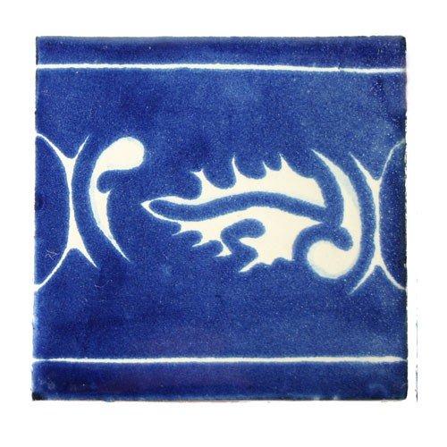Fair Trade Piastrelle in ceramica 'Acebo'-dipinta a mano-10x 10cm-Piastrelle commercio equo e solidale