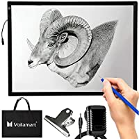 Voilamart A2 Light Box Drawing 12V LED Tracing Board with 3 Level Brightness Ultra-Thin Artist Copy Board Micro Artcraft Animation Light Drawing Pad