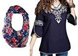 #4: Triumphin Women's Embroidered Cotton Top