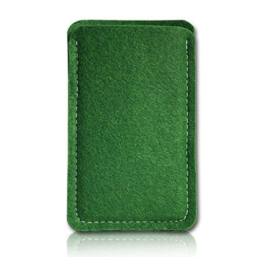Filz Style emporia Pure V25 Premium Filz Handy Tasche Hülle Etui passgenau für emporia Pure V25 - Farbe dunkelgrün