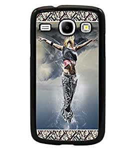 PrintDhaba Dancing Girl D-6028 Back Case Cover for SAMSUNG GALAXY CORE i8262 (Multi-Coloured)