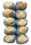 10x 50g chanvre Gris 228–11, 500g 100% chanvre (Hemp) Pelote à tricoter et crochet