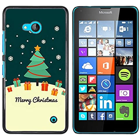 Copertura di plastica Shell Custodia protettiva || NOKIA Lumia 640 || Cute Christmas Card Greeting @XPTECH