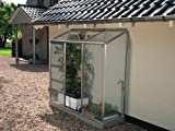 VITAVIA Anlehngewächshaus Ida 300, BxT: 192x65 cm, aluminiumfarben silberfarben