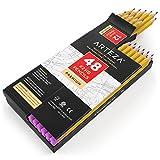ARTEZA Bleistifte — # 2 HB Mine Vorgespitzt — Holz-Bleistifte mit Latexfreien Radiergummis — 48er Box
