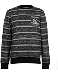 Lee Cooper Hommes Texturé Aop Sweater Col Rond Pull Sweat