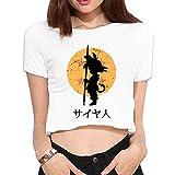 Asdf666 buscando las bolas de Dragon de la mujer Loose Camisetas de Ombligo Expuesto