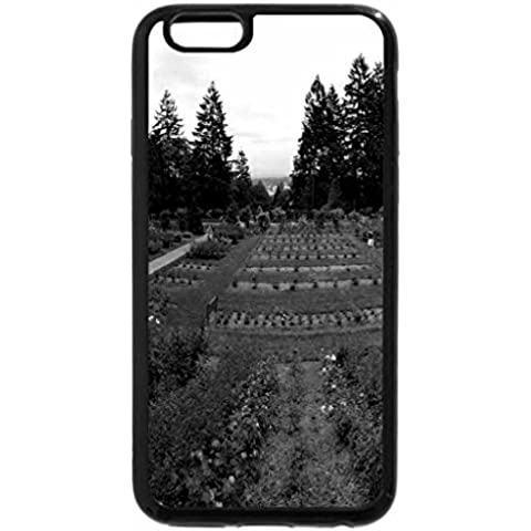 iPhone 6S Plus Case, iPhone 6 Plus Case (Black & White) - Portland, Oregon Rose Test Garden - Rose Test Gardens