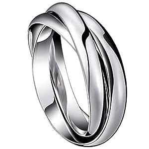 jewelrywe gioielli moda tono acciaio inossidabile tre