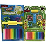 SLYTEK (Combo Pack) 12 Colors Modelling Clay With Small Roller & 4 Moulds + 12 Colors Modeling Clay With Velan & 3 Moulds For Kids/Teens Children - Non-toxic