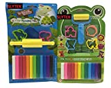 #7: SLYTEK (Combo Pack) 12 Colors Modelling Clay with Small Roller & 4 Moulds + 12 Colors Modeling Clay with Velan & 3 Moulds for Kids/Teens Children - non-toxic