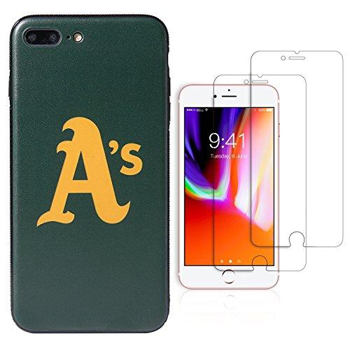 Sportula MLB Telefon Fall, für iPhone 7Plus/iPhone 8Plus (14cm), Passende 2Premium Displayschutzfolie Extra Value Set, Oakland Athletics