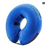 Wellouis Aufblasbare Anti-Biss-Verletzung erholen Hundehaustierkragen, halsschützende Chirurgie-Kegel-Hundehalsring der Erholung, blau