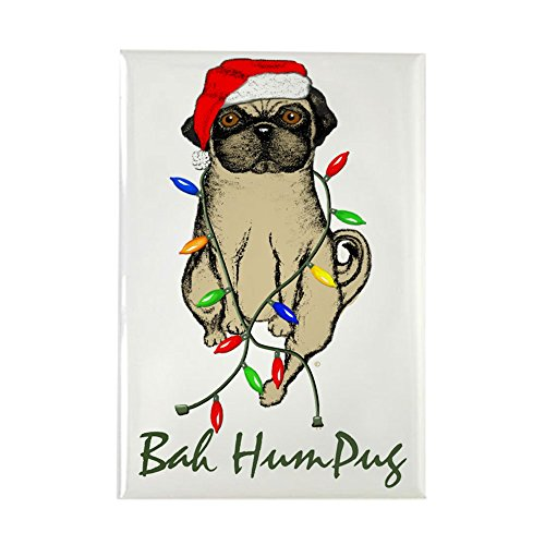 CafePress-Bah HUMPUG Christmas Hund-Rechteck Magnet, 5,1x 7,6cm Kühlschrank Magnet -