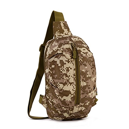 YAAGLE Multifunktional Hüfttasche outdoor Freizeit Brustbeutel militärisch Herren Taschen Reisetasche Kuriertasche schick Schultertasche-Tarnung 3 Tarnung 1