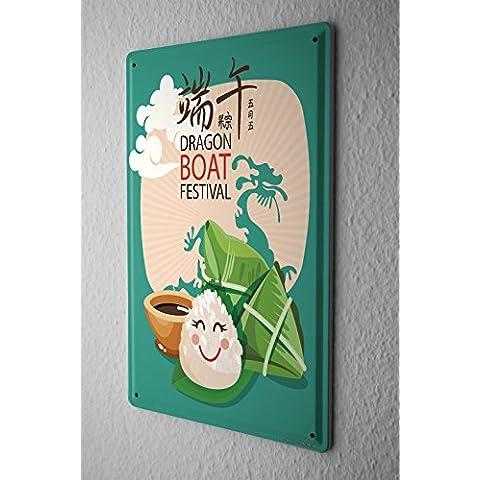 Cartello Targa in Metallo Viaggi Viaggiare Barca drago