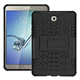 Tab S2 8.0 Inch Case DWaybox 2in1 Combo Hybrid Rugged Heavy Duty Armor Hard Back Cover Case with kickstand for Samsung Galaxy Tab S2 8.0 Inch SM-T710 / T715 / T713 / T719 (Black)