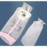 Winter Baby Fußsack für Kinderwagen Buggy, Anti-Rutschschutz, Weiches Deluxe Samt, Warme size 95x40x10 cm (Nlipferd Grau)
