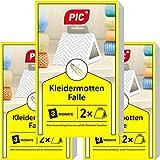 PIC Kleidermottenfalle - Dreierpack = 6 Stück - Mittel...