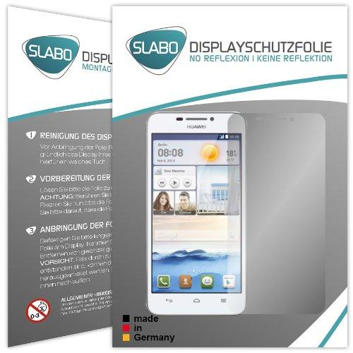 2 x Slabo Bildschirmschutzfolie Huawei Ascend G630 Bildschirmschutz Schutzfolie Folie