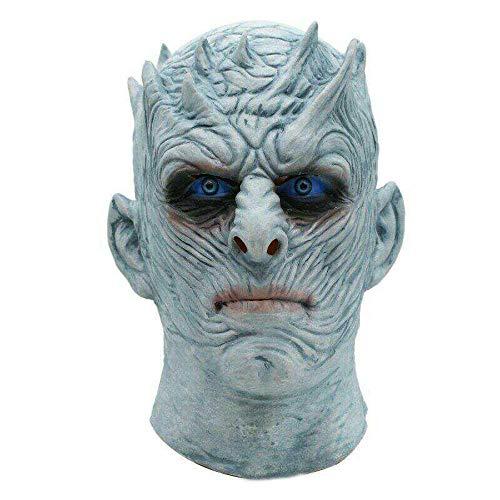 King China Kostüm - HEOWE Film Game Thrones Night King Maske Halloween Realistische Scary Cosplay Kostüm Latex Party Maske Erwachsene Zombie Requisiten