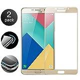 [2 Stück] Samsung Galaxy S6 Panzerglas Displayschutzfolie Premium 3D-Touch Vollbild Coverage Curved Edges Ultra-Klar Panzerglas Schutzfolie mit Härtegrad 9H für Samsung Galaxy S6 - Golden