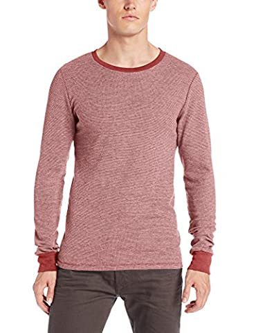 Threads 4 Thought Men's Flex Thermal Long Sleeve Crew, Biking Red, Large