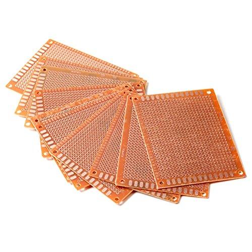 UEETEK 10pcs 7 * 9cm Solder finito prototipo PCB per fai da te del circuito Breadboard