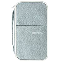 Passport Wallet, Travel wallet, Bopipa Portable Multiple Family Passport Holder Clutch