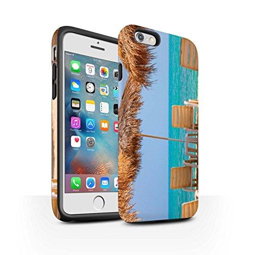 STUFF4 Matte Harten Stoßfest Hülle / Case für Apple iPhone 6+/Plus 5.5 / Feuerwerk Muster / Thailand Landschaft Kollektion Tiki/Strand