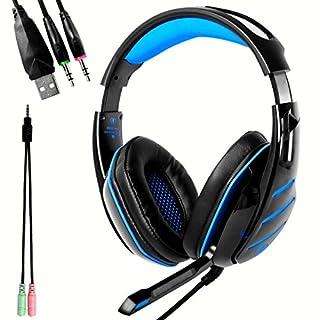 ANRIS Beexcellent GM-3 Professionales Gaming Headset Gaming Kopfhörer Stereo mit Mikrofon und LED Licht für Xbox One, PS4. Mac, PC, Computer, Handy, Tablet