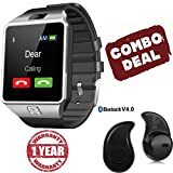 #5: Mi Redmi Note 4G Compatible Certified Captcha SW Bluetooth Smart Watch Phone With Camera and Sim Card Support With Apps like Facebook and WhatsApp Touch Screen Multilanguage Android/IOS Mobile Phone Wrist Watch Phone with activity trackers and fitness band(Assorted Color) with FREE GIFT
